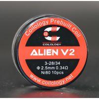 Coils Ni80 Alien V2 (10pcs) - Coilology