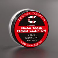 Coils Ni80 Quad-Core Fused Clapton (10pcs) - Coilology
