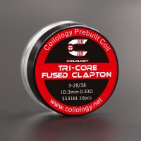 Coils SS316L Tri-Core Fused Clapton (10pcs) - Coilology