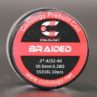 Coils SS316L Braided (10pcs) - Coilology