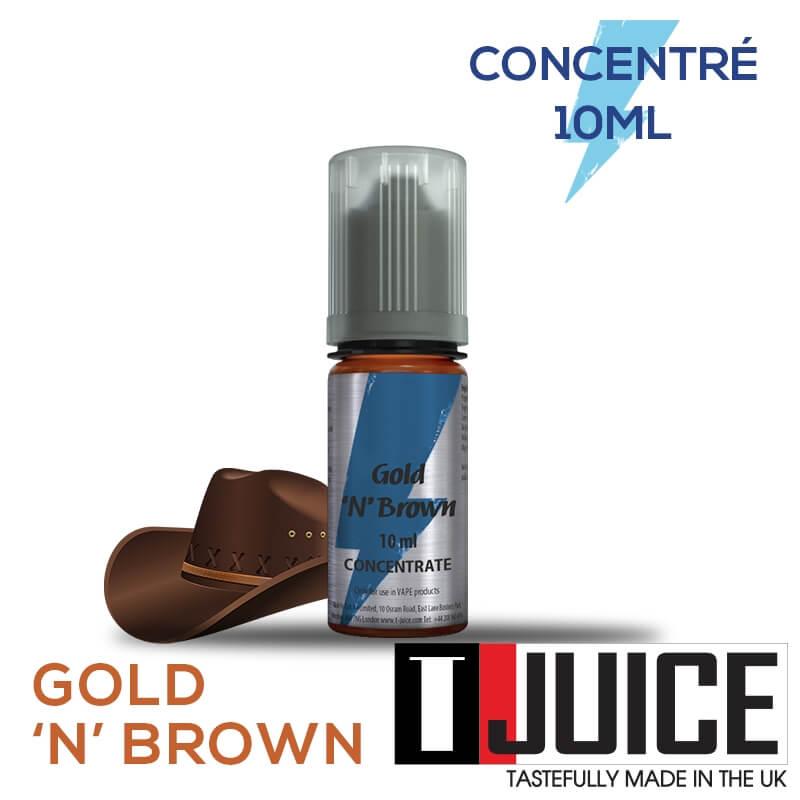 Gold 'n' Brown 10ML Concentré Spain label