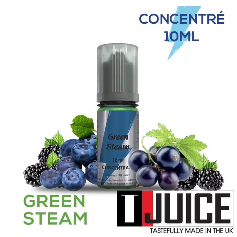 Green Steam 10ML Concentré Spain label