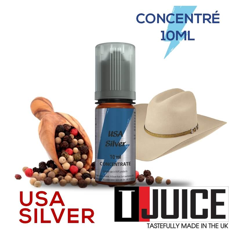 USA Silver 10ML Concentré Spain label
