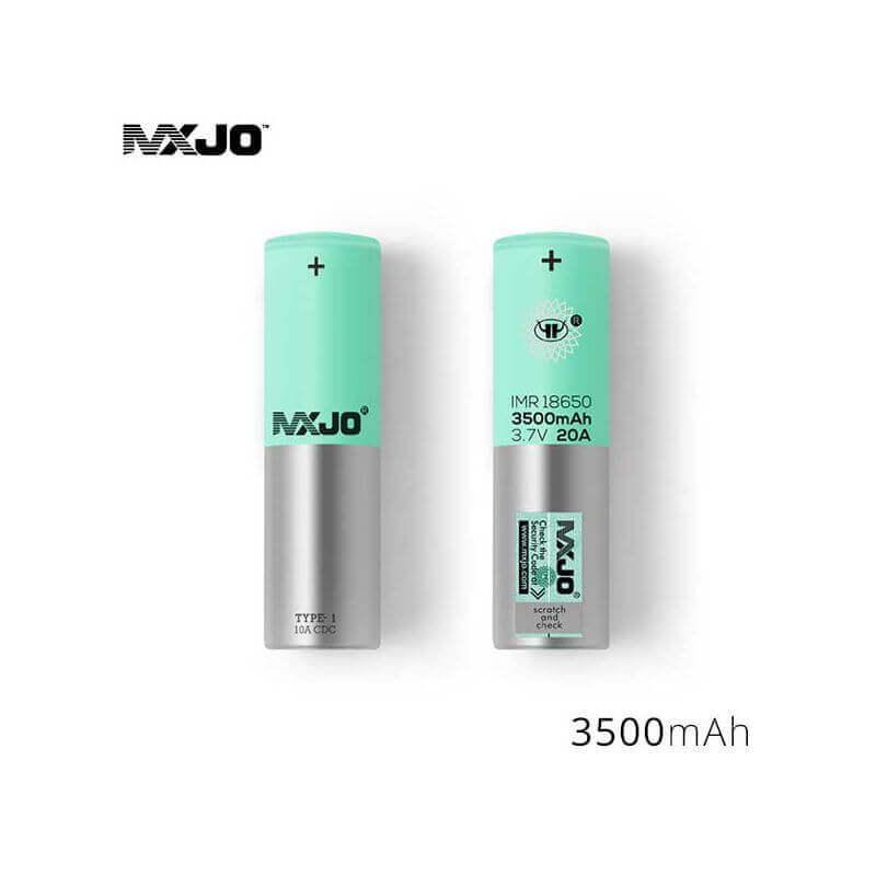 Accu MXJO IMR 18650 3500mah 20A Verte (boite de 4)