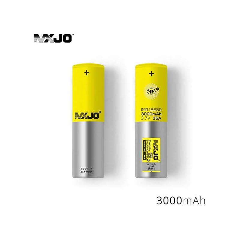 Accu MXJO IMR 18650 3000mah 35A Jaune (boite de 4)