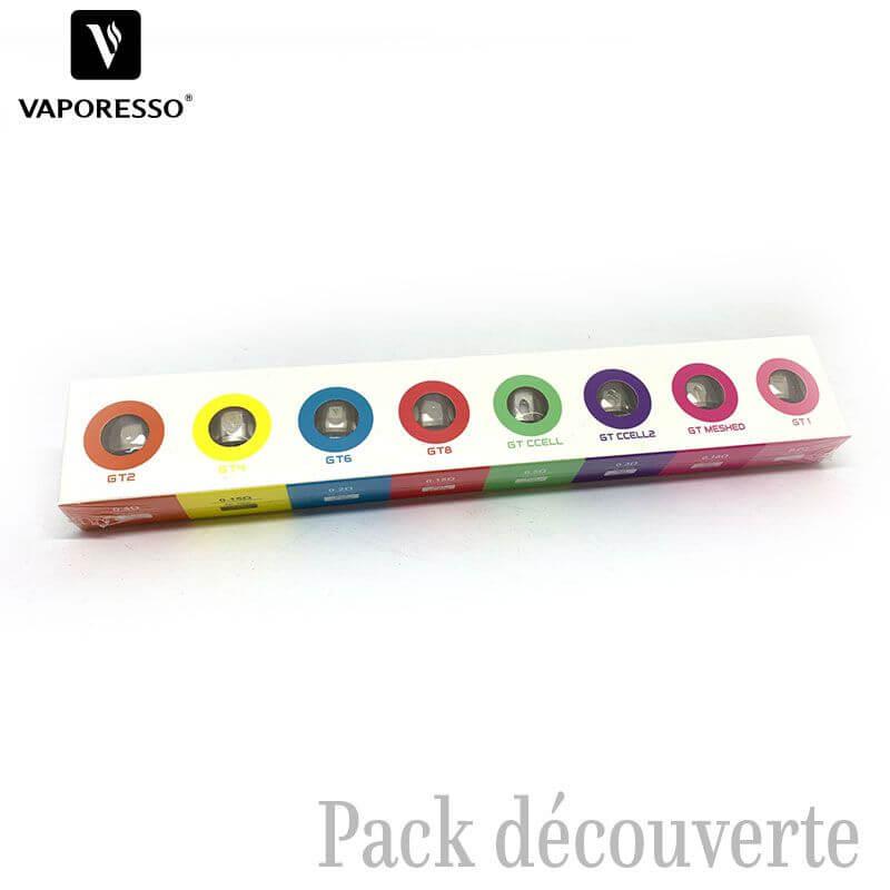 Pack découverte Résistances GT - Vaporesso