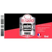 Arôme Fraise 10ml - Eliquid France