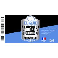 Arôme Tabac American Blend 10ml - Eliquid France