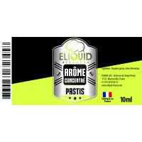 Arôme Pastis 10ml - Eliquid France